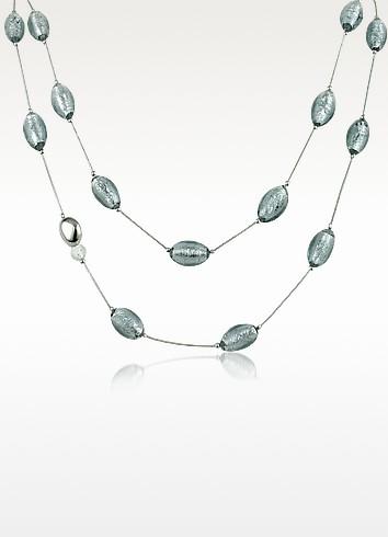Pandora - Murano Glass Bead Sterling Silver Necklace  - Antica Murrina