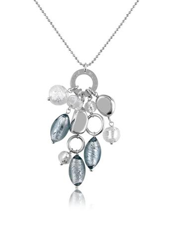 Antica Murrina Babylon - Murano Glass Bead Drop Sterling Silver Necklace