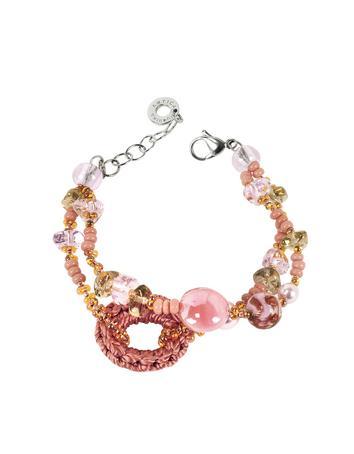 Lux-ID 208797 Avant Gard Pink Murano Glass Bracelet