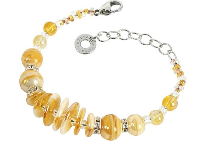 Liberty Light Gold Halskette aus Muranoglas - Antica Murrina Veneziana