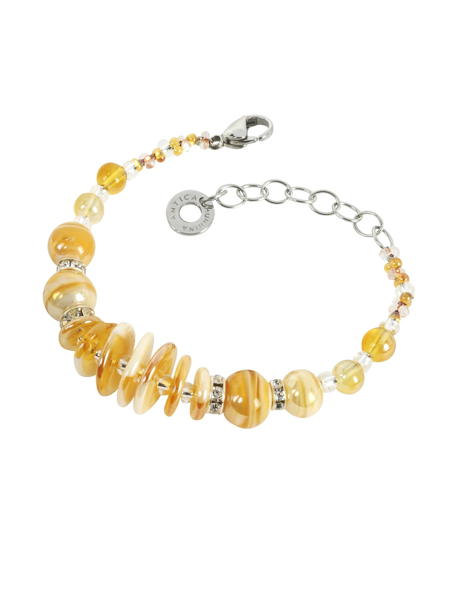 Liberty Light Gold Murano Glass Bracelet от Forzieri.com INT