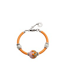 Papaya 2 Orange Armband aus Muranoglasperlen - Antica Murrina Veneziana