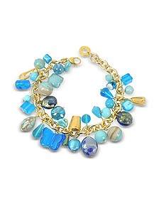Marilena Murano Glass Marine Charms Bracelet  - Antica Murrina