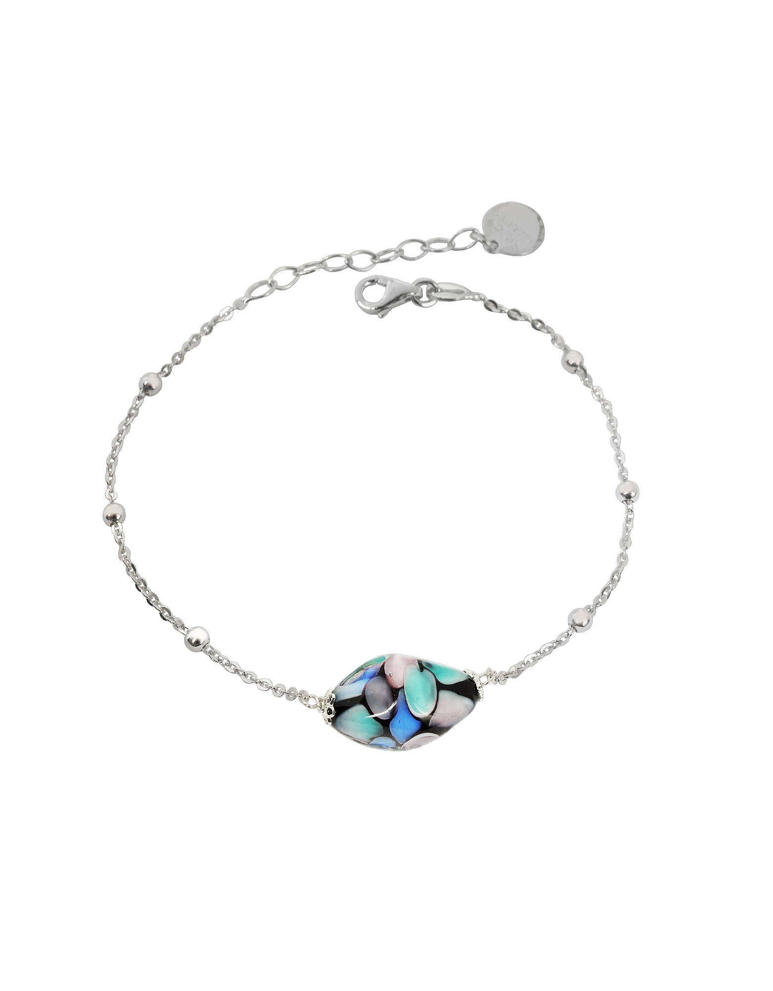 Antica Murrina Bracelets, Smeralda Glass Beads Sterling Silver Bracelet