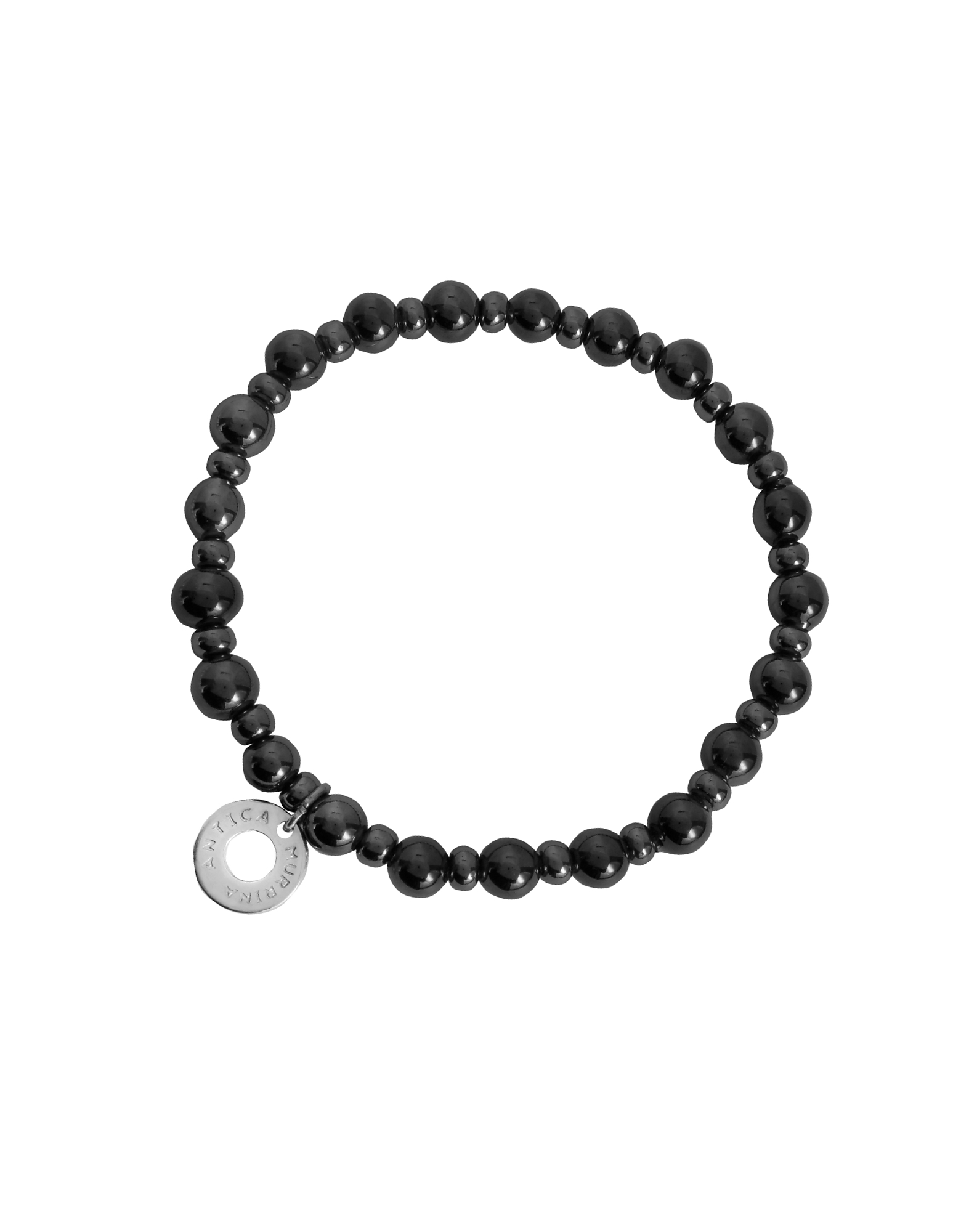 Antica Murrina Bracelets, Perleadi Black Murano Glass Beads Bracelet