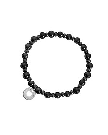 Perleadi Black Murano Glass Beads Bracelet  - Antica Murrina