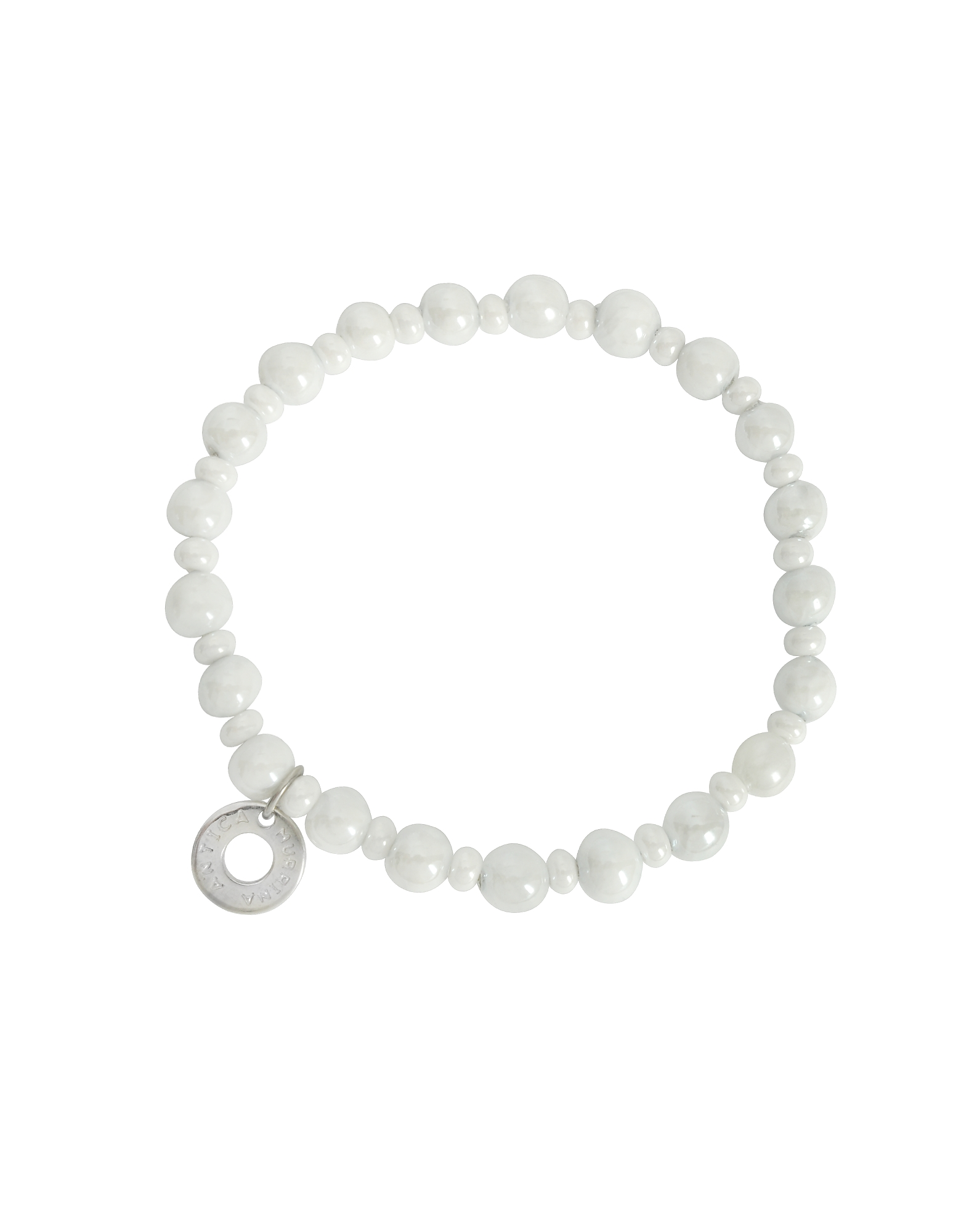 Antica Murrina Bracelets, Perleadi White Murano Glass Beads Bracelet
