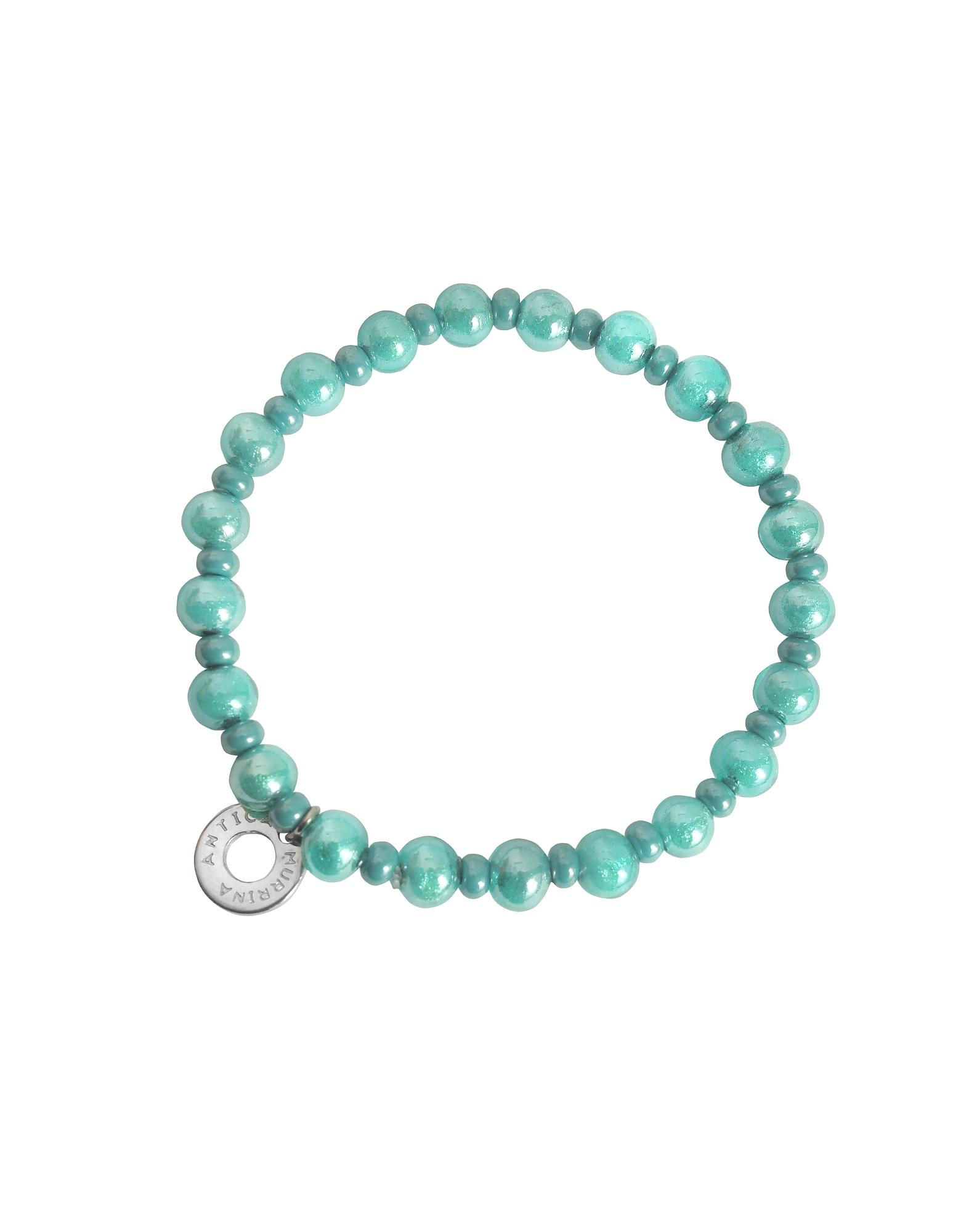 Antica Murrina Bracelets, Perleadi Turquoise Murano Glass Beads Bracelet