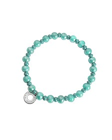 Perleadi Turquoise Murano Glass Beads Bracelet - Antica Murrina