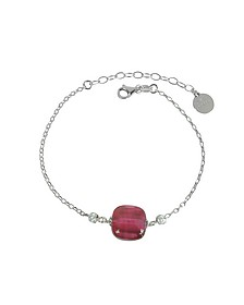 Florinda Ruby Murano Glass Sterling Silver Bracelet - Antica Murrina