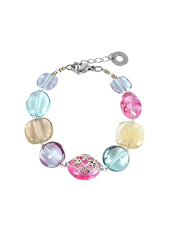 Antica Murrina - Florinda Top T Transparent Murano Glass Beads Bracelet