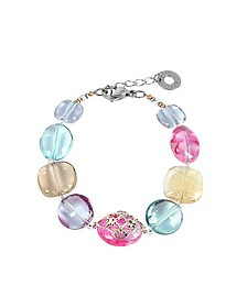 Florinda Top T Transparent Murano Glass Beads Bracelet - Antica Murrina