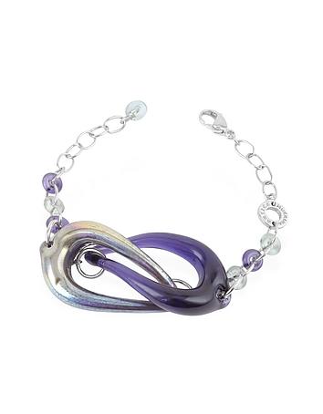 Antica Murrina - Connection - Interlocking Murano Glass and Sterling Silver Bracelet