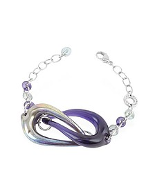 Connection - Interlocking Murano Glass and Sterling Silver Bracelet - Antica Murrina