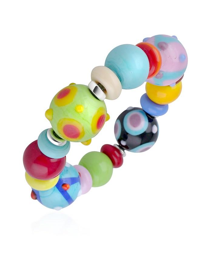 Ipanema - Multicolor Murano Glass Bead Bracelet - Antica Murrina