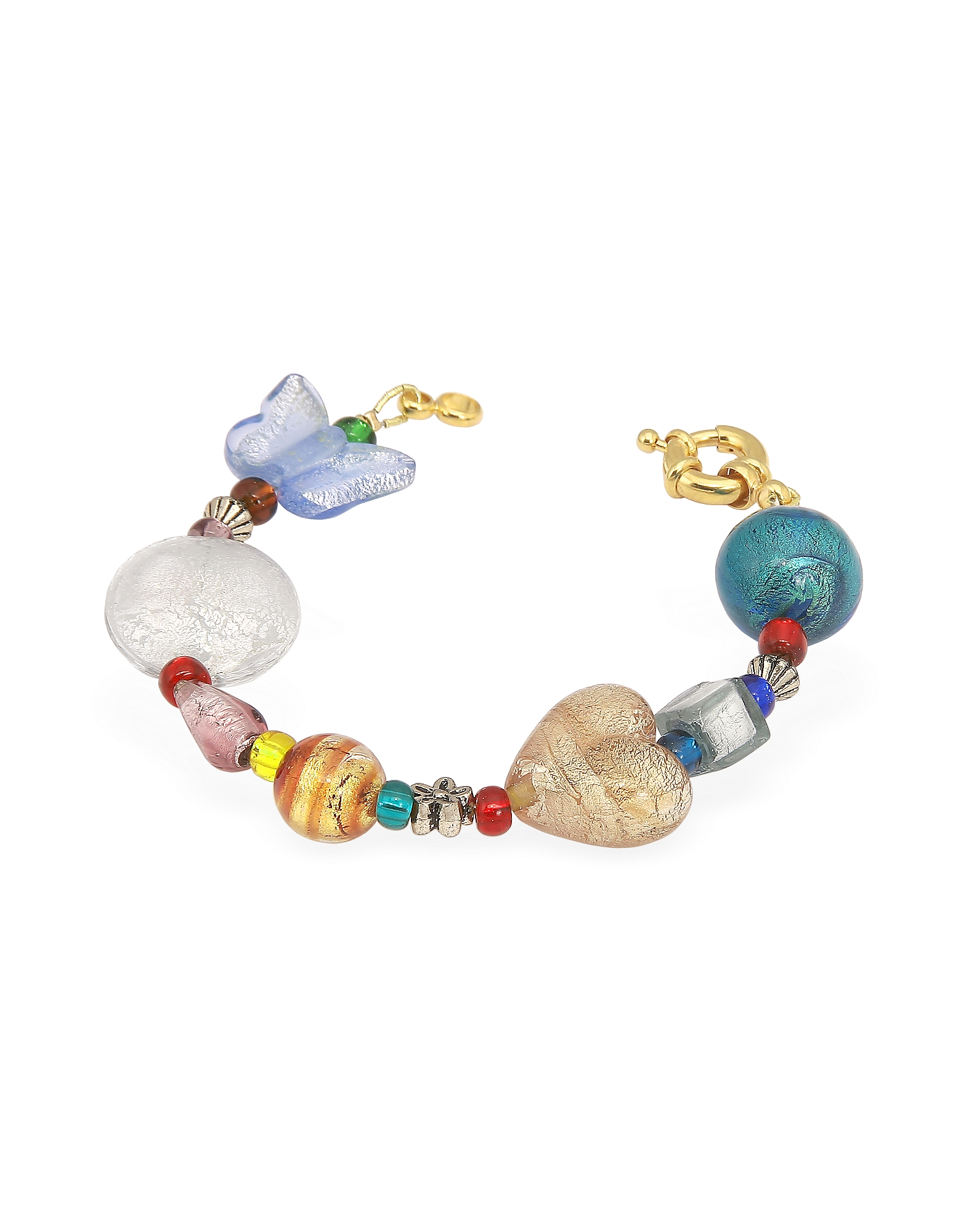 Antica Murrina Designer Bracelets, Fanny - Multicolor Murano Glass Bead Bracelet