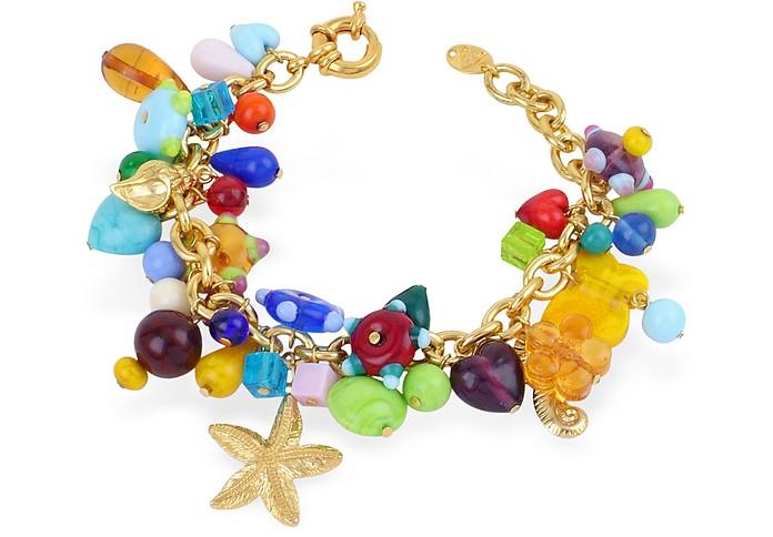 Marilena - Murano Glass Marine Gold Plated Bracelet  - Antica Murrina
