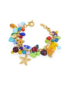 Marilena - Murano Glass Marine Gold Plated Bracelet  - Antica Murrina
