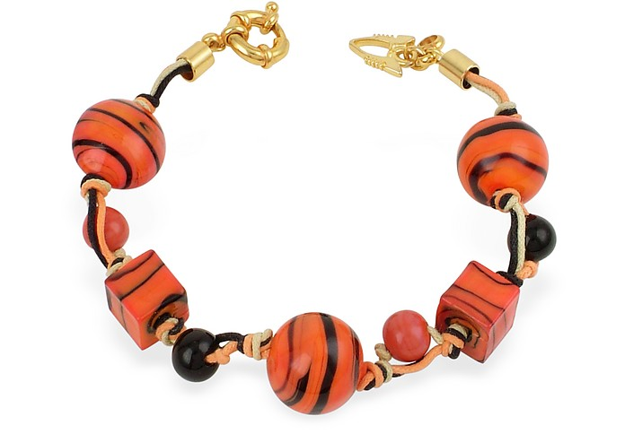Madagascar - Murano Glass Bead Bracelet - Antica Murrina