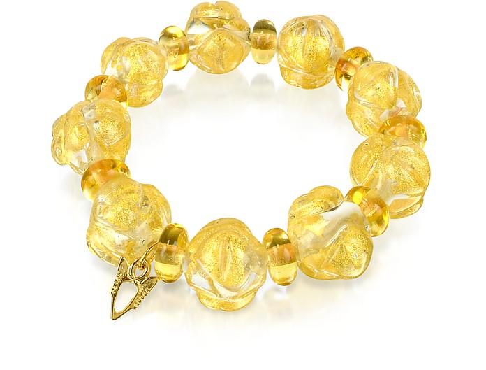 Eldorado - Murano Glass Stones Stretch Bracelet - Antica Murrina