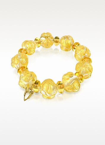 Eldorado - Murano Glass Stones Stretch Bracelet - Antica Murrina