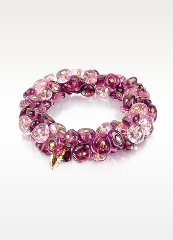 Rubik - Murano Glass Drops Stretch Bracelet - Antica Murrina