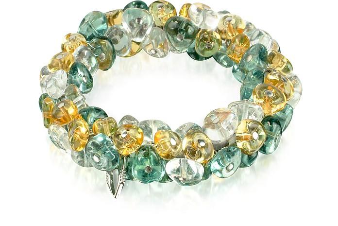 Rubik - Murano Glass Drops Stretch Bracelet - Antica Murrina