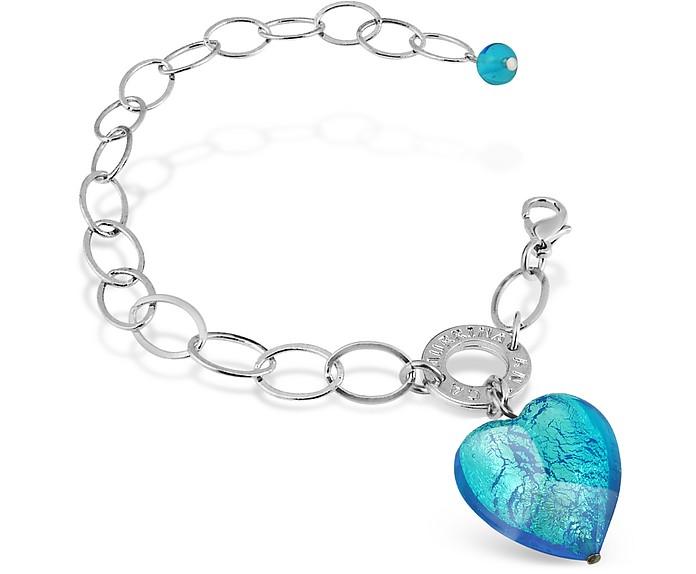 Faith - Heart Charm Chain Bracelet - Antica Murrina