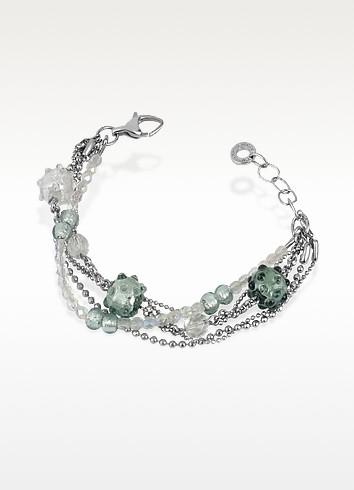 Tiffany - Murano Glass Bead Chain Bracelet  - Antica Murrina