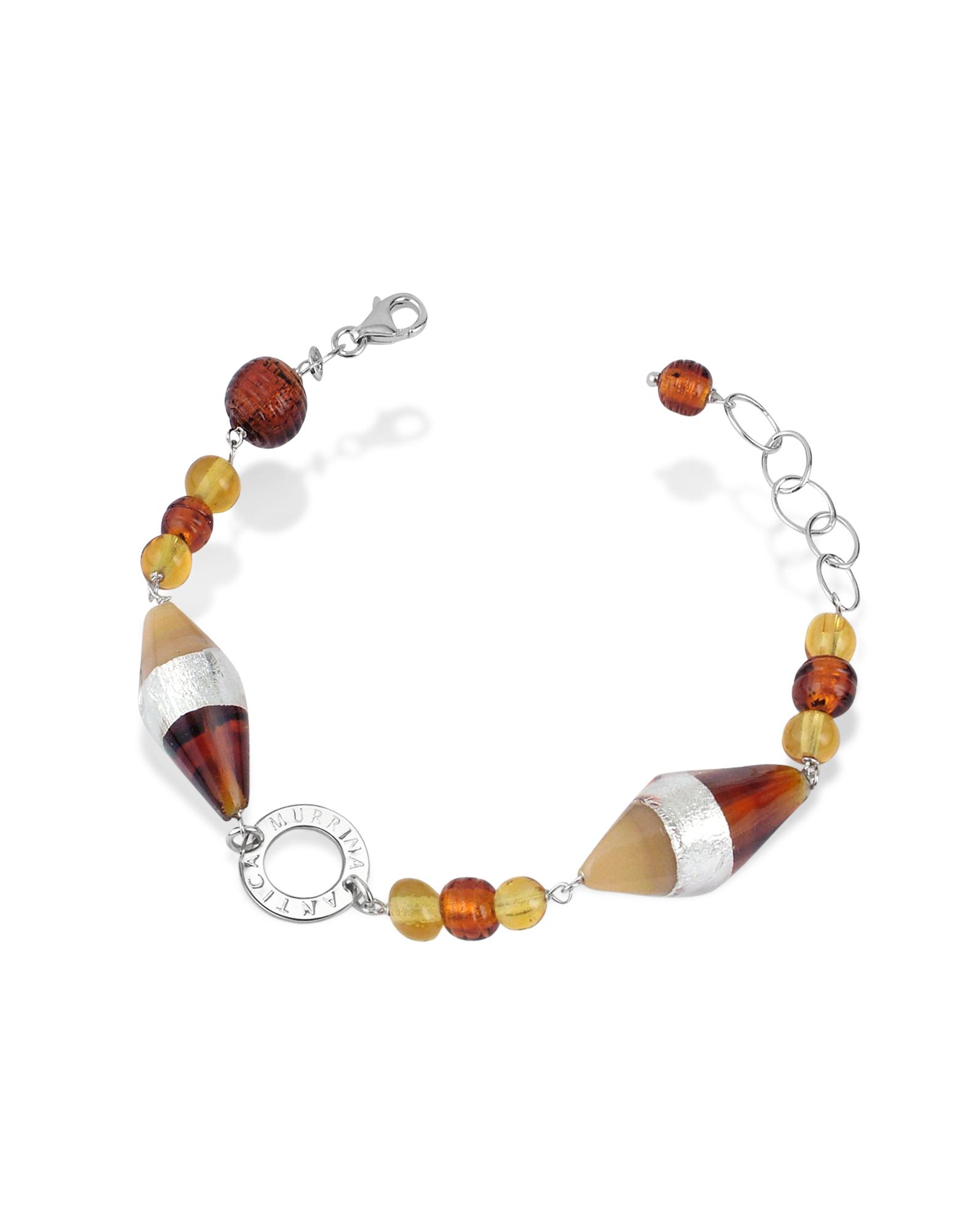 Antica Murrina  Liberty - Murano Glass Bead Sterling Silver Bracelet