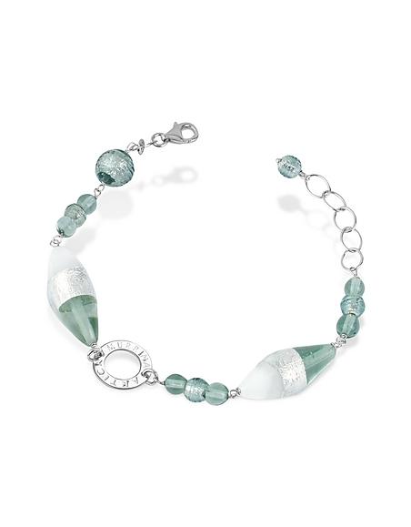 Antica Murrina Liberty - Bracelet en argent avec perles en verre de Murano