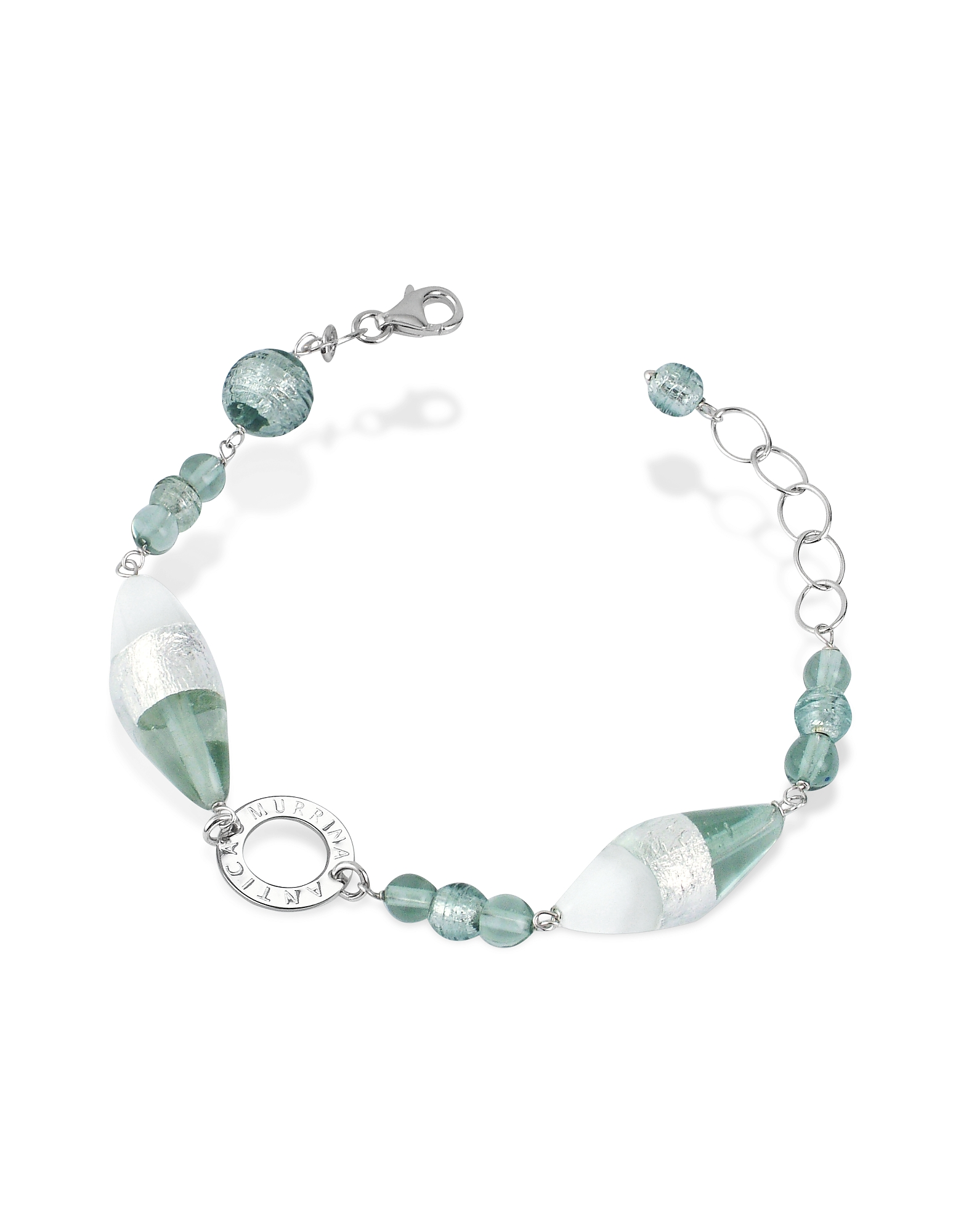 Antica Murrina Bracelets, Liberty - Murano Glass Bead Sterling Silver Bracelet