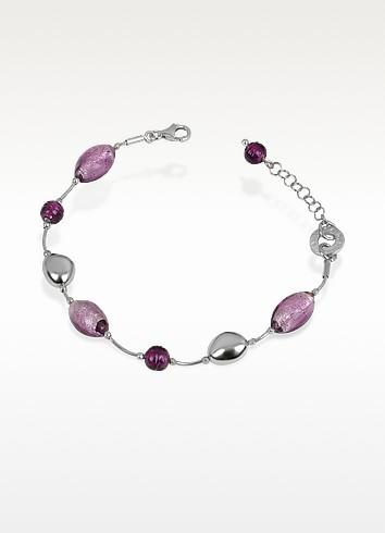 Babylon - Murano Glass Bead Sterling Silver Bracelet - Antica Murrina