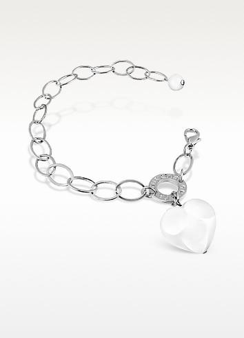 Hope - Murano Glass Heart Charm Bracelet  - Antica Murrina