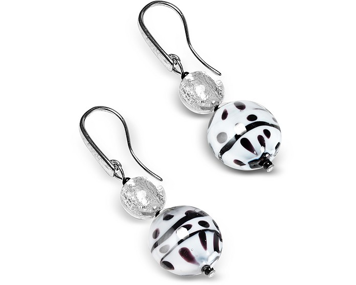 Audrey 2 Color Block Murano Glass Earrings - Antica Murrina