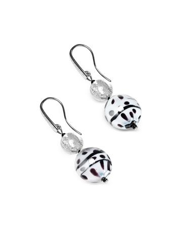 Lux-ID 208828 Audrey 2 Color Block Murano Glass Earrings