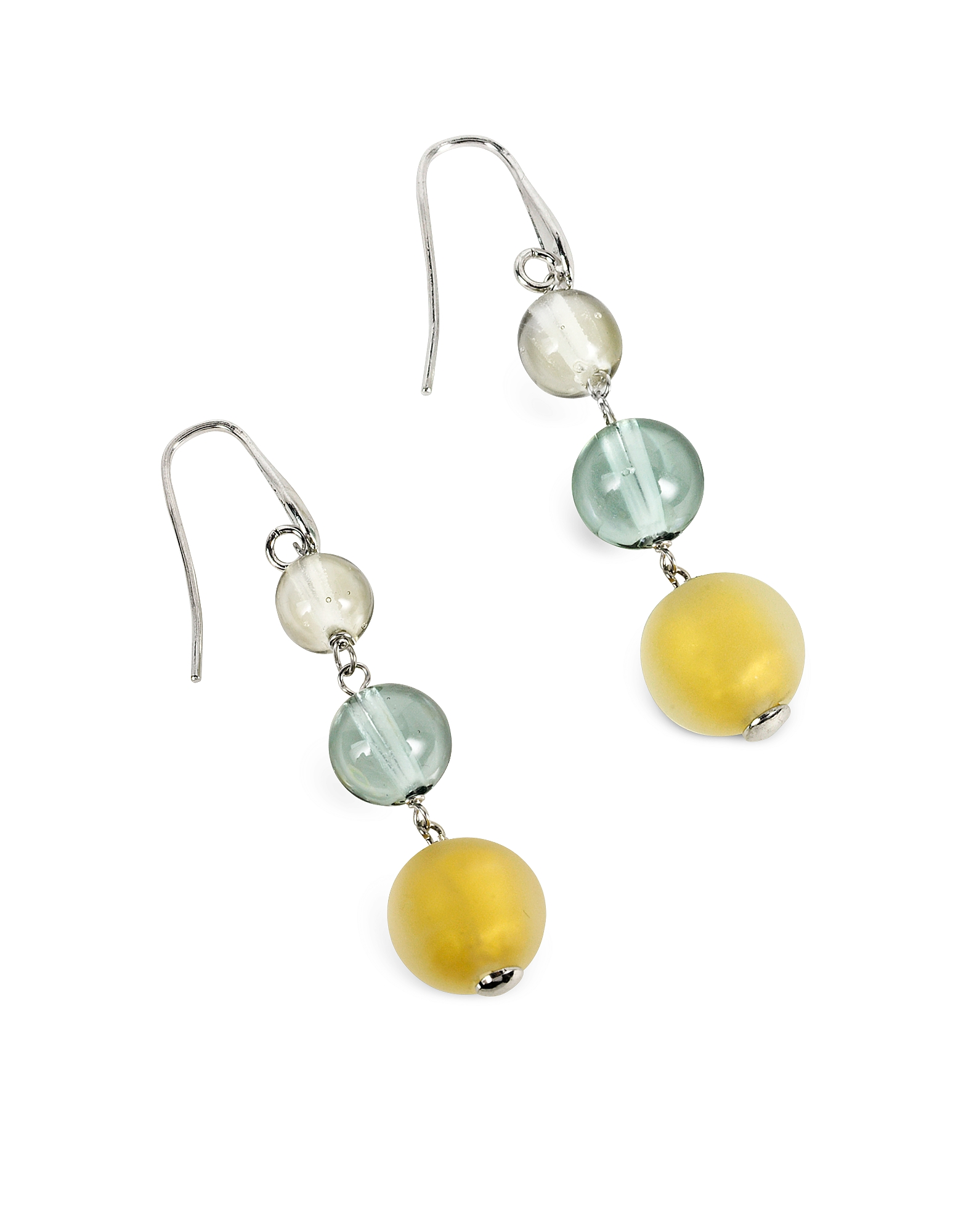 Atelier Nuance - Grey & Amber Murano Glass Dangling Earrings от Forzieri.com INT