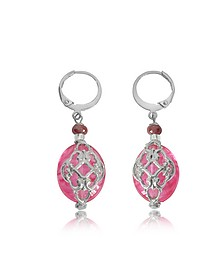 Florinda Ruby Murano Glass Earrings - Antica Murrina