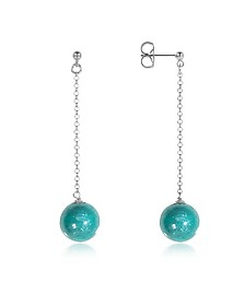 Perleadi Turquoise Murano Glass Bead Earrings - Antica Murrina