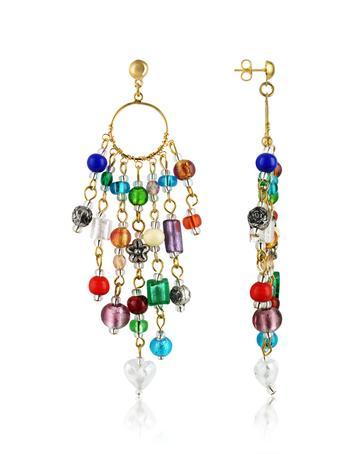 Lux-ID 208832 Brio - Murano Glass Bead Chandelier Earrings