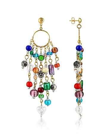 Brio - Murano Glass Bead Chandelier Earrings