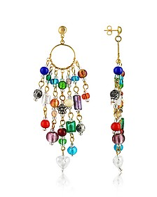 Brio - Murano Glass Bead Chandelier Earrings - Antica Murrina