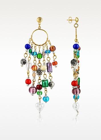 Antica Murrina Brio - Murano Glass Bead Chandelier Earrings