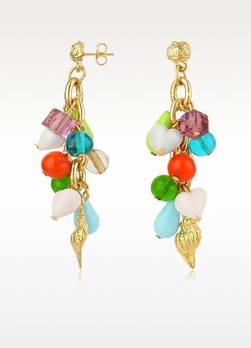 Marilena - Murano Glass Marine Drop Earrings - Antica Murrina