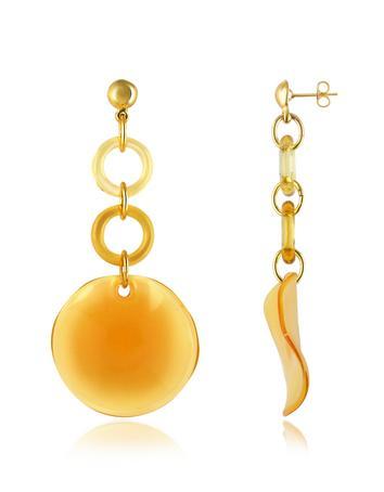 Syria - Murano Glass Disc Drop Earrings