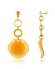 Syria - Murano Glass Disc Drop Earrings - Antica Murrina
