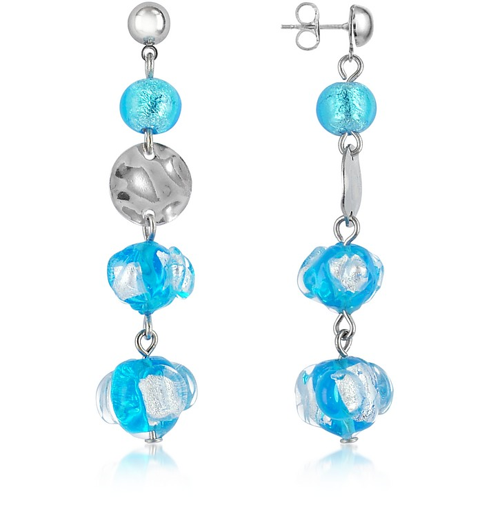 Eldorado - Murano Glass Stone Drop Earrings - Antica Murrina