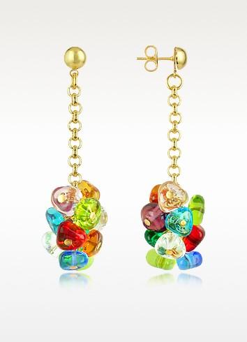Rubik - Murano Glass Drops Earrings - Antica Murrina