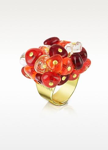 Rubik - Murano Glass Drops Ring - Antica Murrina