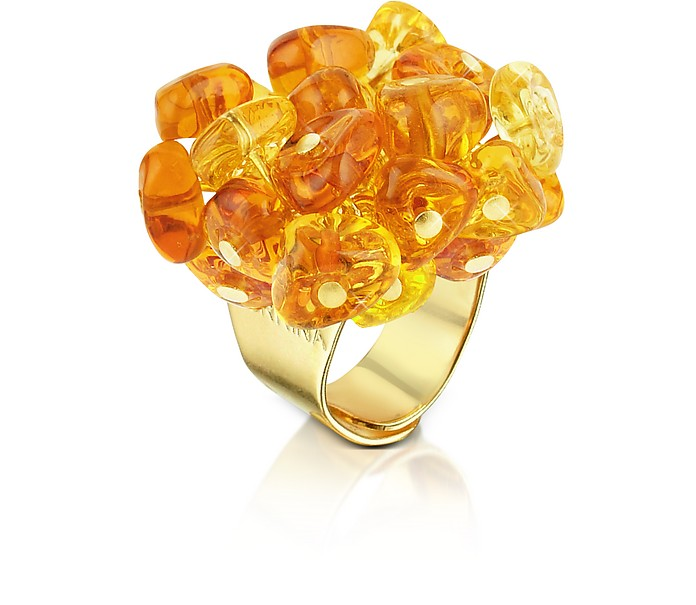 Rubik - Murano Glass Drops Ring - Antica Murrina